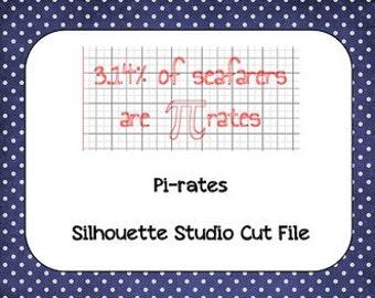 Pirates Pi Day Silhouette Cut File