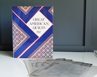 Vintage Book/ Great American Quilts 1987/ Sandra L. Obrien/ Printed Quilt Templates/Make Your Own Quilt Templates/Coffee Table Book/Crafts