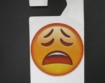 Emoji Sad Face Do not disturb door hanger.