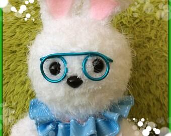 Crochet plush white rabbit Alice in wonderland