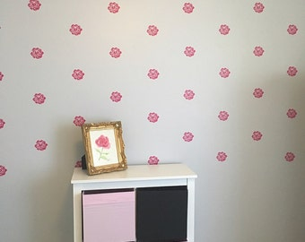 Flower Wall Decals Rose Wall Decal Flower Vinyl Decals Set Of Flower Decals Flower Decal Set Rose Decal Nursery Decal Rose Wall Decor