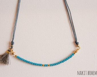 Preppy Pompom necklace