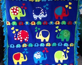 CIRCUS ELEPHANTS Fun Fleece Blanket