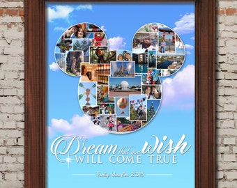Digital Disney Vacation Photo Collage -- 16x20 DIY Printable / Digital ONLY