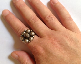 Old spiked ring from Madhya Pradesh, Indian jewelry, tribal, ethinc, Indian ring