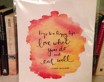 Love what you do and eat well print