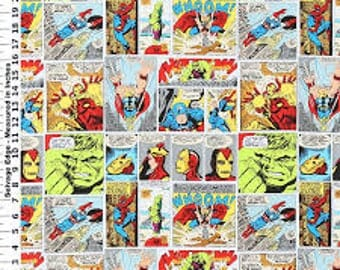 1 Yard Avengers Fabric / Marvel Comic /  Fabric By The Yard