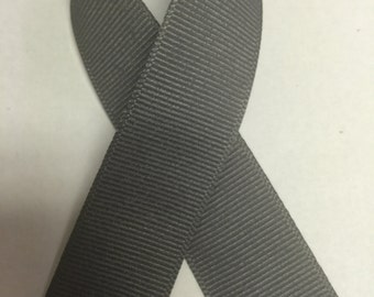 "7/8"" Pewter Grey Grosgrain Ribbon  - 100% Polyester  - Made in USA - Offray"