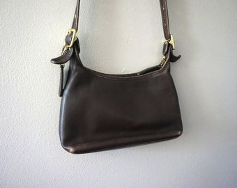 80s Vintage Coach Purse// Coach Cross Body// Evening Purse// Authentic Coach// Brown Leather