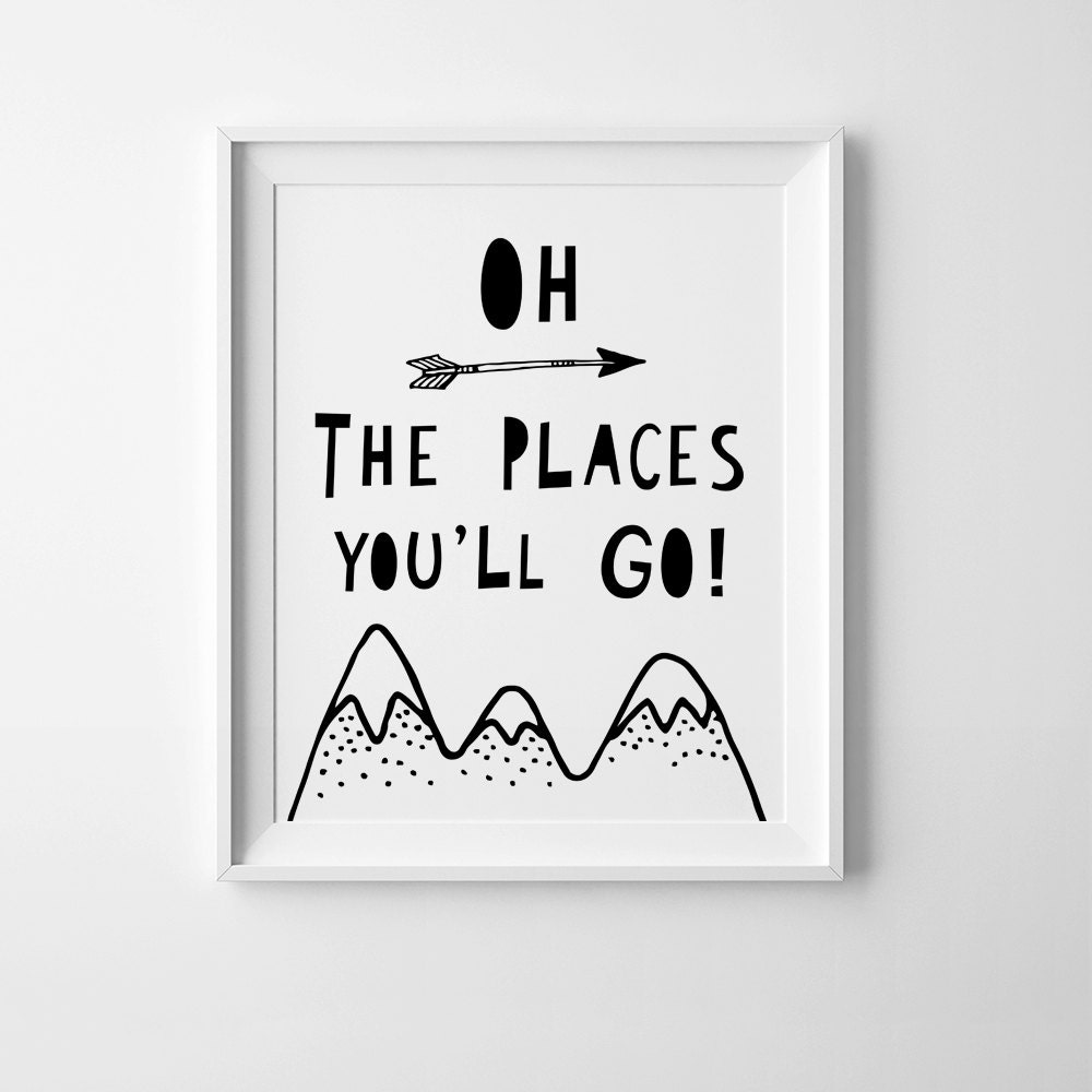 Oh The Places You Ll Go Nursery Print Mini Learners