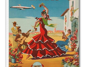 Spain Art Vintage Spanish Poster Print Canvas Hanging Wall Decor xr879