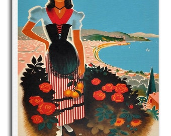 Nice France Art Vintage Travel Poster Retro French Home Decor Print xr948