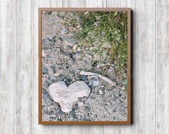 Large Heart Rock Print - Large Art Print, Fine Art Print, Desert Wall Art, Boho Prints, Still Life Art, Desert Photography