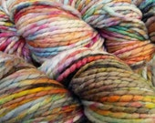 Handspun, Hand dyed, thread ply merino wool yarn - FUNKY #2