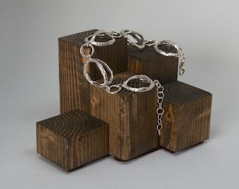 "Bracelet of sterling silver 925 ""Semicircles"""