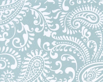 """WALKER Paisley Premier Prints Fabric Spa Blue or Color Choice Decorator Fabric 54"""" wide Fabric By The Yard"""