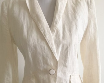Ivory / Cream Linen  blazer / Jacket