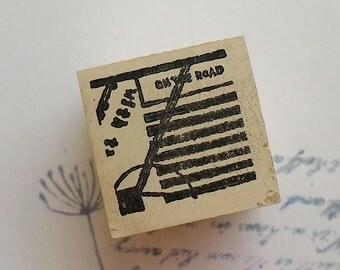 Postmark rubber stamp~6 ,Chamilgarden