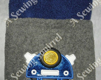 Doctor Who Dalek Hooded Towel Applique/Embroidery