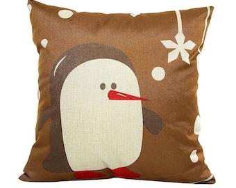 Christmas Penguin - Pillow Cover