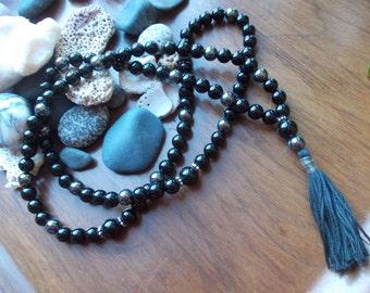 Onyx, Hematite ,99x8mm Tasbeh ,tesbih, prayer necklace,.