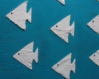 School of Fish Wall Decor Blue Wooden Nautical Beach Decor
