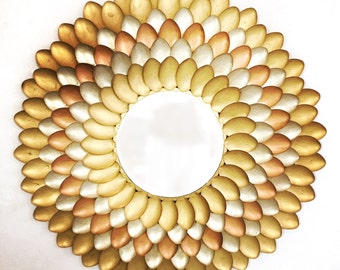 Large flower shaped mirror.