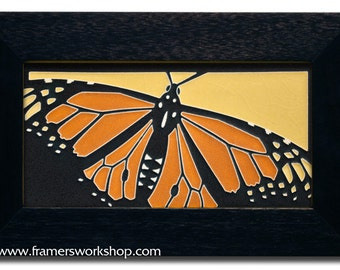 "Motawi TIle ""Monarch"" (Golden) 4"" x 8"" Ceramic Tile"
