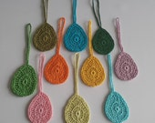 10 Crochet Easter Eggs, Easter Decorations, 100% Cotton.