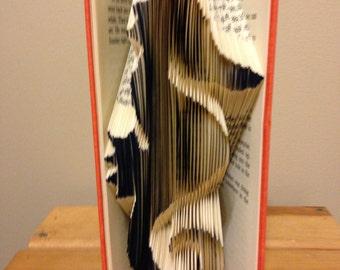Hand folded seahorse book