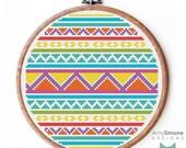 Aztec Geometric shapes patterned Cross Stitch Pattern