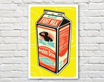 Fight Milk -  It's Always Sunny In Philadelphia Print
