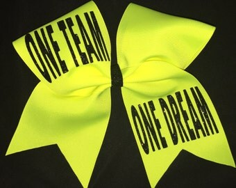 One Team, One Dream practice cheer bow