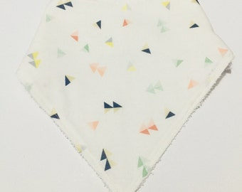 Pastel Geometric Triangle Print Bandana Dribble Bib