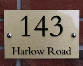 Modern Decorative House Address Sign, Door Plaque, House Number Sign,  Contemporary Decorative Door