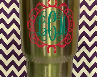 Horse Theme Yeti cup decal
