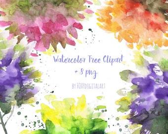 Watercolor Tree Clipart, Tree Clipart, Tree Illustration, Forest Watercolor Tree Clipart, Green Tree Clipart, Hand Painted Watercolor Tree