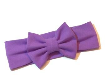 Lavender Bow Turban