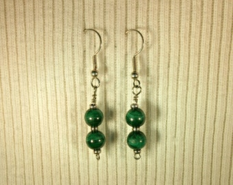 Malachite Earrings # 242