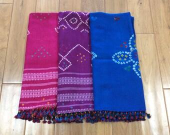 Bandhani (Tie dye) Woolen Shawl