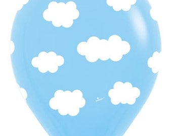 """11"""" Clouds Balloons Set of 10 latex Balloons, Party, Decor prop """"Same Day Shipping"""""""