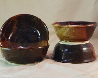 Iron Glazed Cereal bowls
