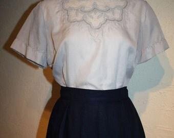 "1950's ""New Look"" Dove Grey Blouse"