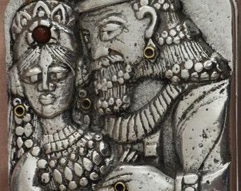 "Frank Meisler ""King Solomon"" Limited Edition Metal Jewelry Box Judica Jewish Art"