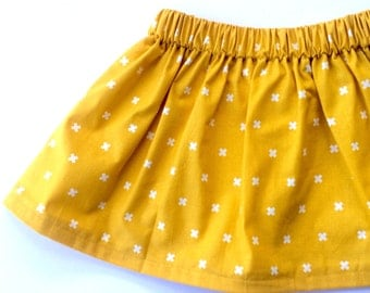 PERFECT YELLOW // baby and toddler skirt