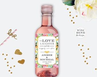 Mini Wine Label//Wedding Wine Label//Favors//Watercolor