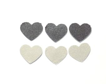 Mix silver heart confetti, silver confetti, heart confetti, party confetti, wedding confetti