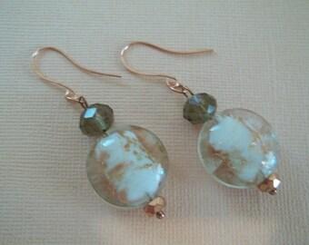 Odette - Copper foil earrings