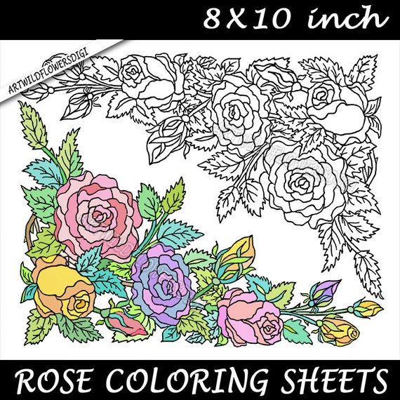 rose art coloring pages - photo#45