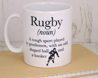 Rugby Definition mug - rugby gifts - best rugby gifts - top rugby gifts - rugby lover fift ideas - Father's Day gifts - sport lover